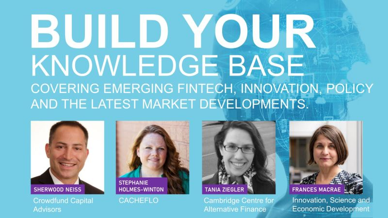 Week 1 – Scaling Fintech Funding, Innovation and Competition:  July 9th Agenda Now Posted