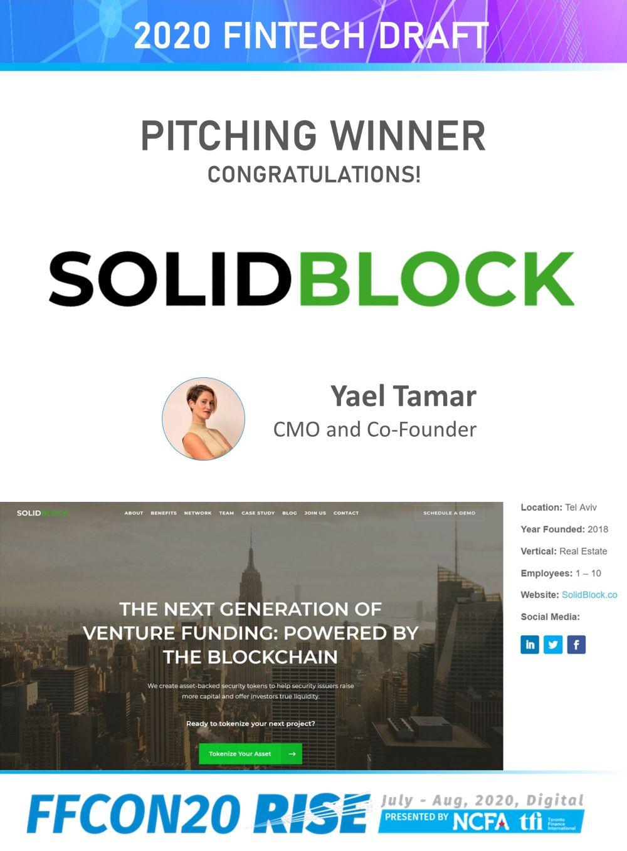 FFCON20 Fintech Draft Pitching Winner - SolidBlock_