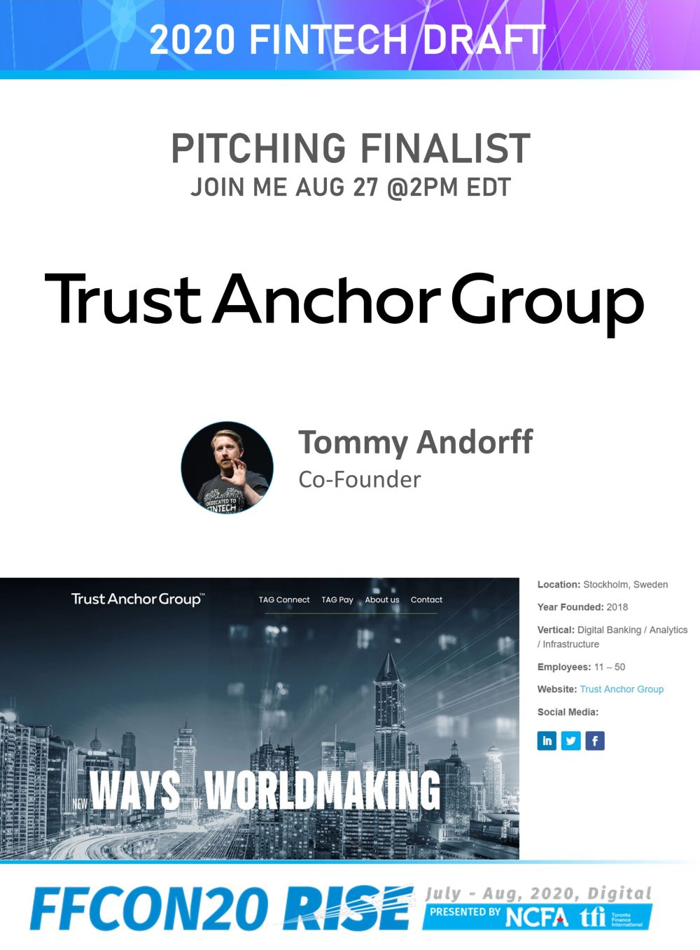 FFCON20 Pitching Finalist card - Trust Anchor Group resize
